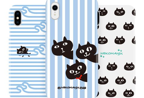 iPhone XS/X/ XR abbi FRIENDS ネコマンジュウ 背面カバーケース